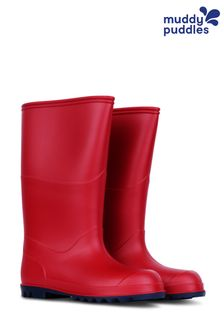 Muddy Puddles Red Classic Wellington Boots
