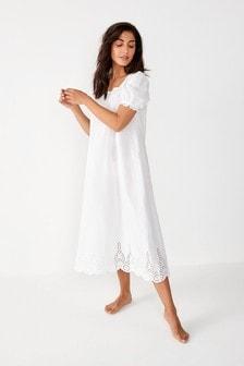 雕繡棉質睡裙