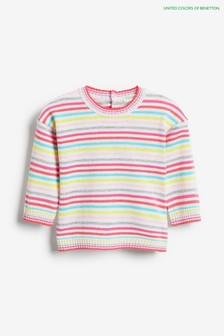 Benetton Multi Stripe Jumper