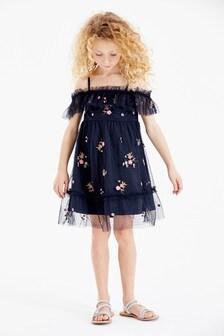 Платье с открытыми плечами (3-16 лет)