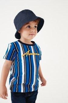 Tričko s vertikálnymi pásikmi a krátkymi rukávmi (3 mes. – 7 rok.)
