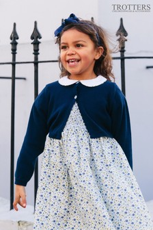 Темно-синий короткий кардиган Trotters London Sophie