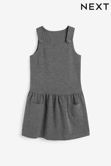 فستان نمط مئزر جيرسيه بخصر ساقط (3-14 سنة)