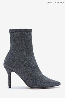 Metalické ponožkové nízke čižmičky Mint Velvet Venus