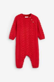 Cable Knitted Romper (0mths-2yrs)