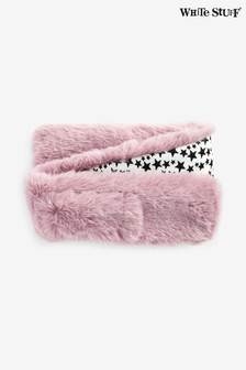 White Stuff Pink Kids Faux Fur Scarf