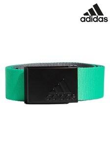 Зеленый двусторонний ремень adidas Golf