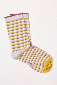 FatFace Grey Striped Socks