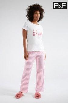 F&F Pink Bubbles Pyjama Pack