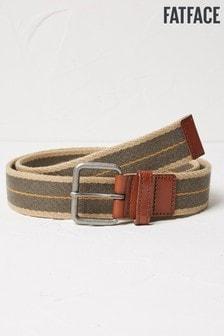 FatFace Green Webbing Belt