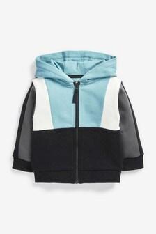 Jersey Colourblock Zip Through Hoodie (3mths-7yrs)