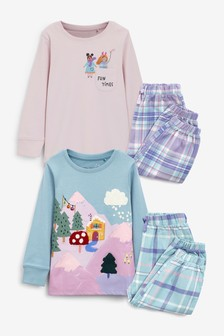 2 Pack Woven Bottom Pyjamas (9mths-8yrs)