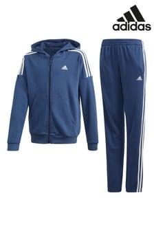 Темно-синий спортивный костюм с 3 полосками adidas