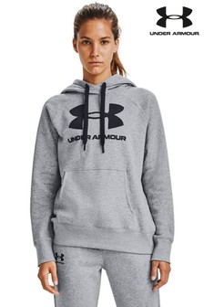 Under Armour Rival Kapuzensweatshirt mit großem Logo