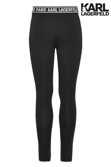 Karl Lagerfeld Black Logo Leggings