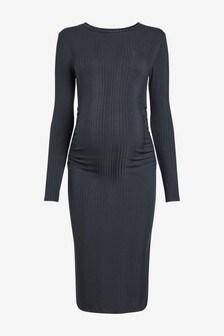 Geripptes Jersey-Kleid (Umstandsmode)