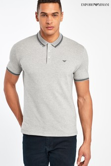 Emporio Armani Light Grey Poloshirt