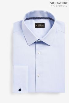 Aláírás texturált ing trim részlet