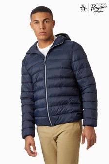 Original Penguin® Blue Lightweight Hooded Padded Jacket