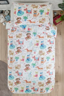 Dogs Duvet Cover and Pillowcase Set