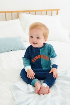Velour Slogan Top And Bottoms Set (0mths-2yrs)