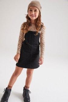 Dżinsowa sukienka na szelkach (3-16 lat)