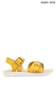 Start-Rite Enchant Yellow Leather Sandals