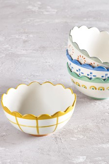 Callie Set of 4 Bowls Hand Painted