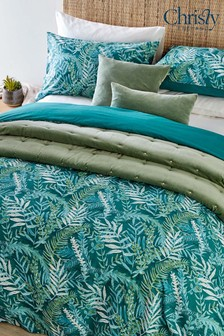 Christy Teal Bali Duvet Cover and Pillowcase Set