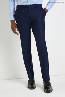 French Connection Slim Fit Ink Flannel Trouser