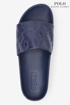 Polo Ralph Lauren® Cayson Leder-Pantoletten mit aufgeprägtem Logo