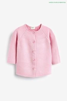 Benetton Pink Knit Cardigan