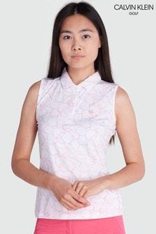 قميص بولو أبيض بدون كم AvonمنCalvin Klein Golf
