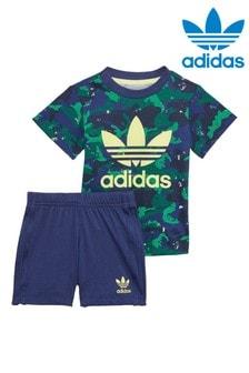 adidas Originals Infant All Over Print Shorts and T-Shirt Set