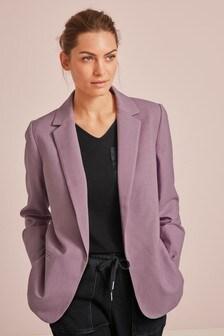 Sharkskin Texture Tailored Jacket