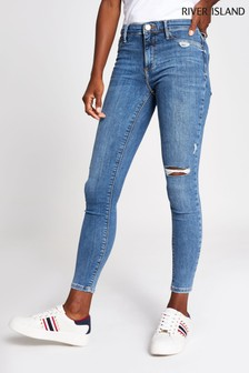 River Island Mid Auth Molly Honey Jeans