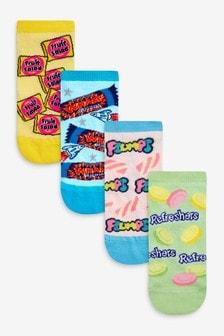 Sweet Patterned Trainer Socks Four Pack