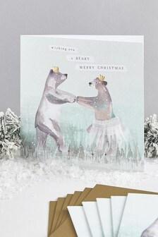 Lot de 6 cartes de Noël de charité