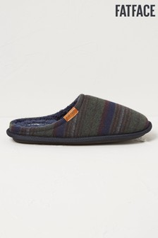 FatFace Blue Henry Textured Stripe Mules
