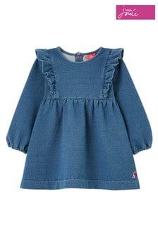 Joules Blue Karlee Jersey Denim Dress