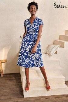 Синее платье-рубашка Boden Rowena