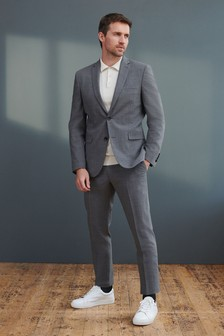 Signature Tollegno Fabric Motion Flex Puppytooth Suit: Trousers