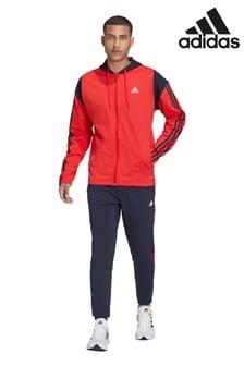 adidas Red/Navy Rib Tracksuit