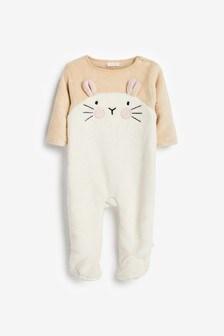 Флисовая пижама с дизайном «кролик» (0 мес. - 3 лет)