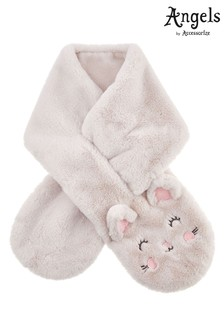 Angels by Accessorize Cream Fluffy Cat Scarf