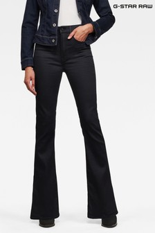 G-Star Black 3301 High Flare Jeans