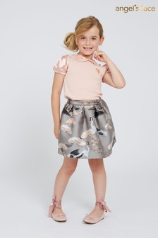 Angel's Face Grey Heron Skirt