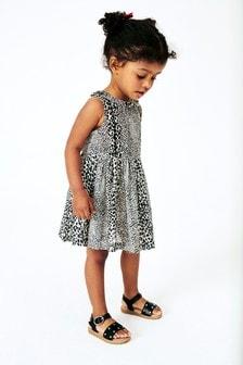 Платье с воротником и принтом (3 мес.-7 лет)