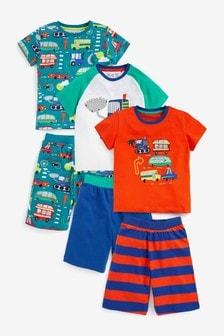 3 Pack Short Pyjamas (9mths-8yrs)