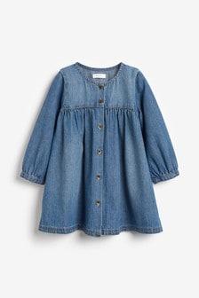 שמלה עם כפתורים (3 חודשים עד גיל 7)